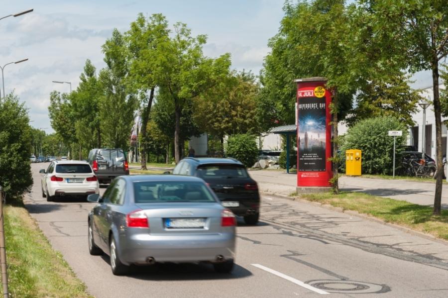 Die Ganzsäule oder die Litfaßsäule als Außenwerbung - Ganzsäule München Dein-Kinoticket - Ganz-/ Litfaßsäule