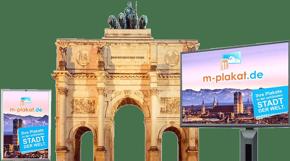 Außenwerbung in München, das Plakat als Werbemittel in München nutzen