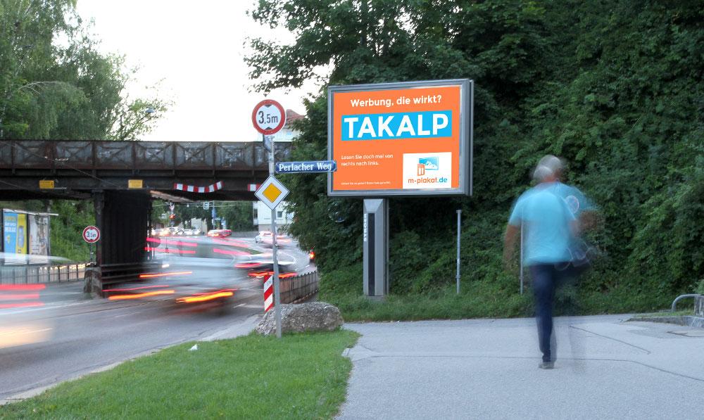 Mega-Light Poster / Mega Light Werbung - Außenwerbung in München