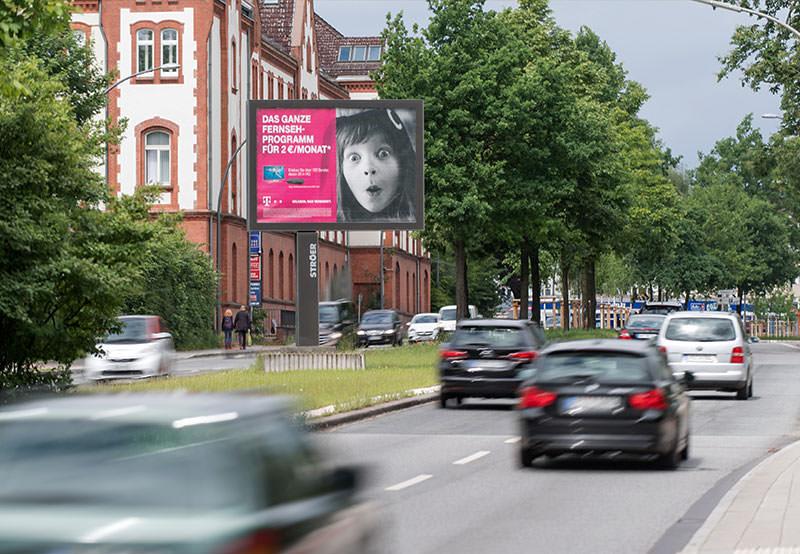 Erfolgreiche Werbung mit Mega-Light Poster - Mega Light Werbefläche